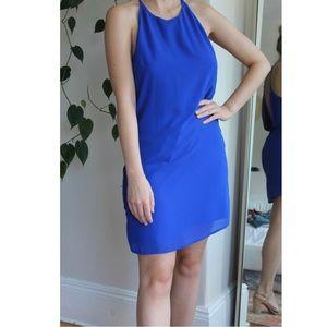 The Impeccable Pig Dresses - Vibrant blue low back dress size L